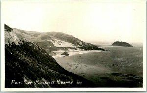 Monterey County, Calif. RPPC Photo Postcard POINT SUR - ROOSEVELT HIGHWAY 1941