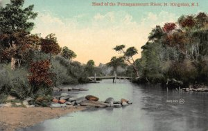 Head of the Pettaquamscutt River, North Kingston, R.I.,  Early Postcard, Unused