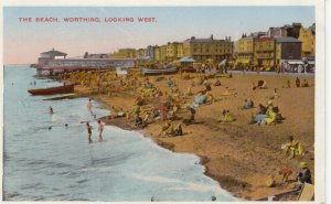 WORTHING , Sussex , England , 10-20s ; The Beach , Looking West