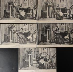 French Set of 5 Postcards CONFIDENCE Have Confidence c1906