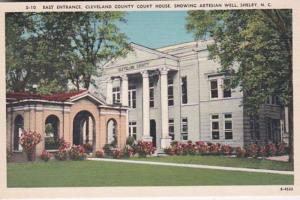 North Carolina Shelby Cleveland County Court House East Entrance Showing Arte...