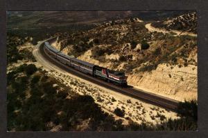 CA Amtrak Desert Wind Railroad Train Cajon Summit CALIFORNIA Calif Postcard RR
