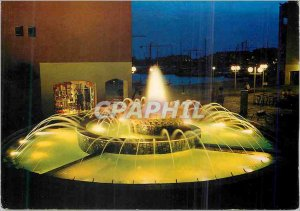 Postcard Modern Agde (Herault) Fountain Agde Marine night