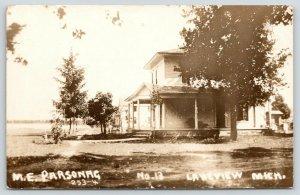 Lakeview Michigan~Methodist Episcopal ME Parsonage~Houses~c1910 RPPC
