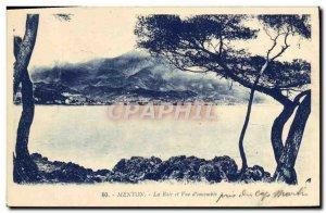 Old Postcard Menton Bay View and D & # 39ensemble