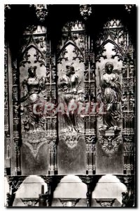 Old Postcard Auch Gers La Cathedrale details of stalls left to right the Char...