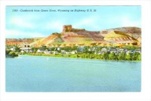 Castlerock From Green River, Wyoming On Highway U.S. 30, Wyoming, 1930-1940s