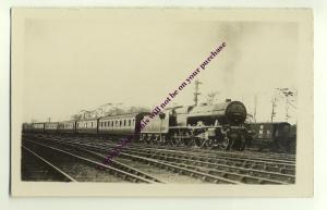 ry63 - LMS Steam Train no 6144 - postcard