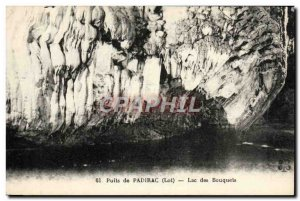 Old Postcard Padirac Puits Lac Des Bouquets