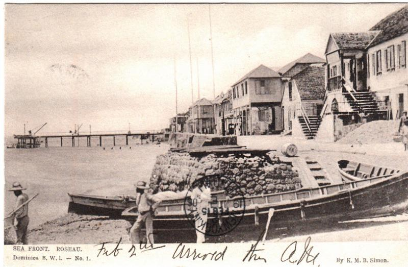 Dominica - Sea Front, Roseau 1906