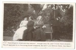 Comic Sailor RP PPC Sydney 1905 PMK - Ooh Them English Deceivers By Nature...