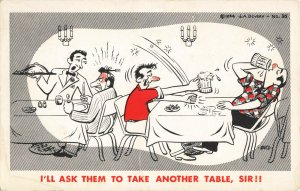 Postcard I'll Ask Them To Take Another Table Sir