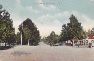 Bennett Street, Man On A Bicycle, Southern Pines, North Carolina, PU-1909