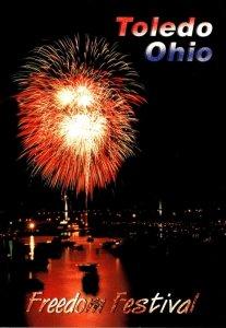 Ohio Toledo Freedom Festival Fireworks Display Over Maumee River