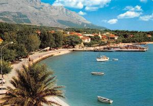 Croatia Baska Voda Promenade Beach Boats