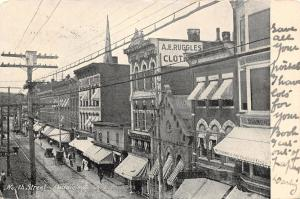 Middletown New York~North Street~AE Ruggles Clothing Store~Met Life Ins~1906 PC