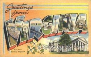 Greetings from, Virginia