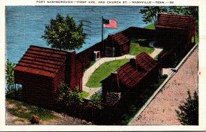 Tennessee Nashville Fort Nashborough 1939