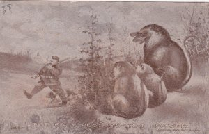 Political comic: Washington, D.C. , PU-1909 THE ONLY POSSUMS THAT ESCAPED