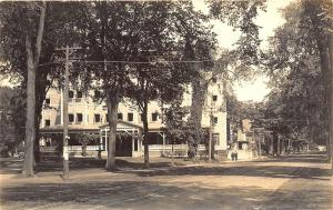 Waterville ME The Elmwood Hotel Street View Atkins Studio Real Photo Postcard