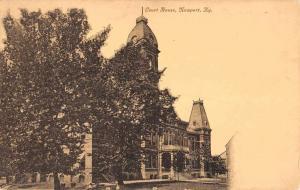Newport Kentucky Court House Street View Antique Postcard K80912