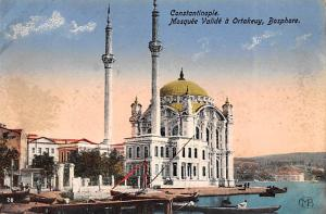 Turkey Old Vintage Antique Post Card Mosquee Valide a Ortakeuy Bosphore Const...