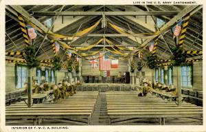 U.S. Military, WWI. U.S. Army, YMCA Interior