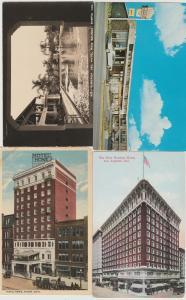 lot of 4 hotel motel postcards