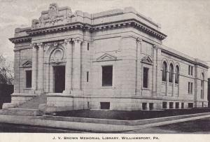 WILLIAMSPORT , Pennsylvania, 1901-07 ; J.V. Brown Memorial Library