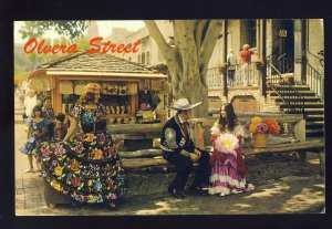 Los Angeles, California/CA Postcard, Olvera Street, People In Native Costumes