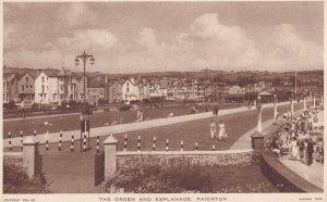 PAIGNTON, Devon, England, 10-30s; The Green And Esplanade ; TUCK