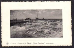 Steamer Prince Baudoiun in Storm Postcard 4162