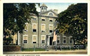 Lee Mansion Marblehead MA Unused