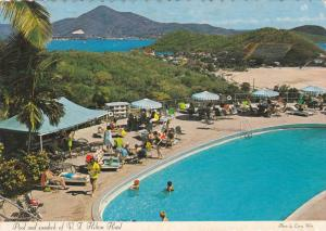 The Swimming Pool and Sundeck of the V.I. Hilton Hotel, St. Thomas, Virgin Is...