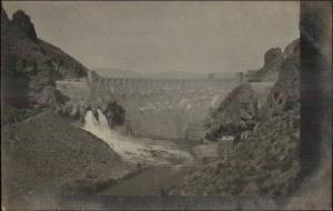 Western US Unidentified Dam c1910 Real Photo Postcard