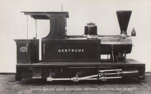 Andrew Barclay Gertrude Welsh Train Highland Railway Restoration RPC Postcard