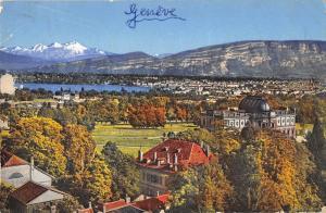 BR47146 Geneve et le mont blanc    Switzerland