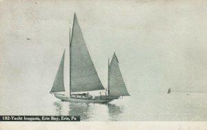 ERIE , Pennsylvania, 1907 ; Yacht Iroquois , Erie Bay