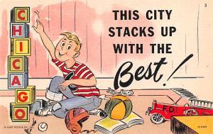 Post Card Old Vintage Antique Chicago Ad, Chicago, Illinois USA Unused