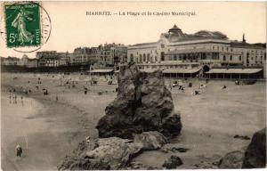 CPA BIARRITZ - La Plage etle Casino Municipal (365459)