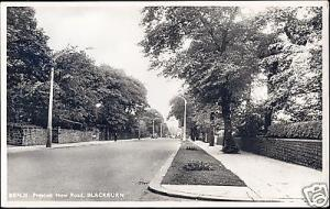 lancs, BLACKBURN, Preston New Road (1958) RPPC
