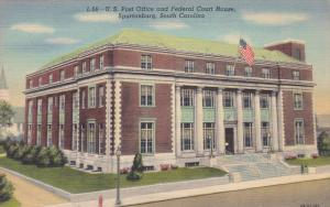 SPARTANBURG, South Carolina; U.S Post Office and Fedreal Court House, 30-40s