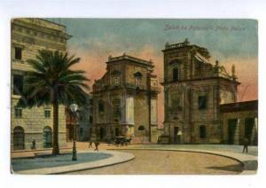 147156 ITALY Saluti da PALERMO Porta Felice Vintage postcard