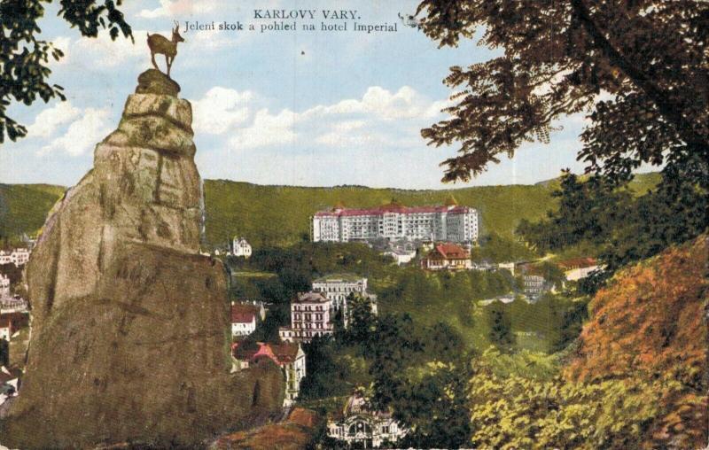 Czech Republic Karlovy Vary Jeleni skok a pohled na hotel Imperial 02.22