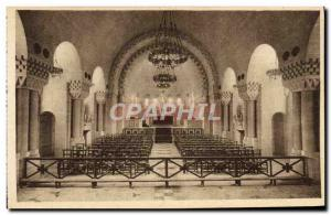 Old Postcard Douaumont Inside view of the Catholic Chapel