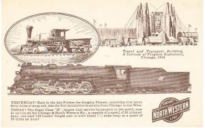 Century of Progress C&NW Railroad Card 1934