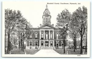 Postcard IN Plymouth Marshall Country Courthouse D12