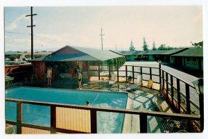 Postcard Currier Motel Palo Alto California Swimming Pool Standard View Card