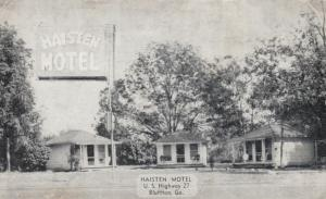 BLUFFTON, Georgia , 1930s; Haisten Motel, U.S. Highway 27
