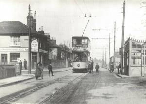 Reproduction c1910 Postcard, Tram Terminus, Northumberland Heath, Bexley 94T